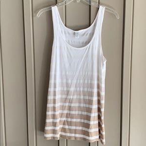 Old Navy Striped Ombré Tank Top